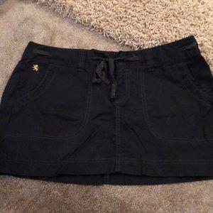 Express black Cotten skirt.